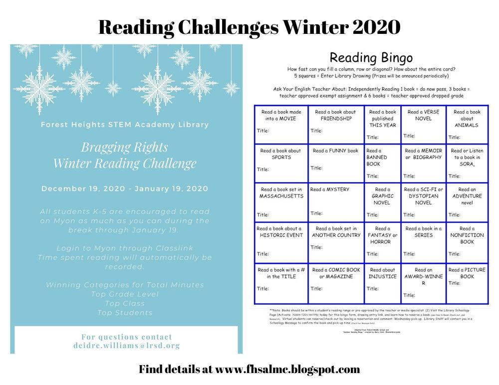 Reading Challenges Winter 2020