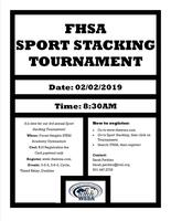 FHSA Sport Stacking Tournament!