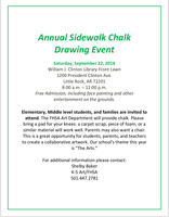 Annual Sidewalk Chalk Drawing Event