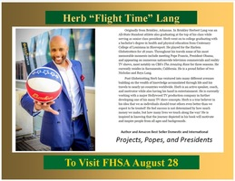 "Author to Visit August 28: Herb ""Flight Time"" Lang"