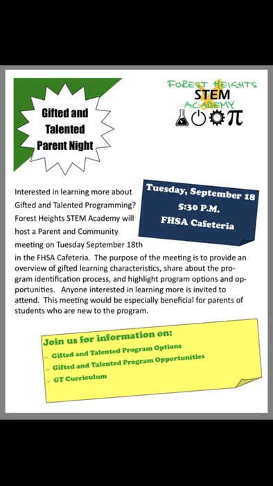 GT Parent Night