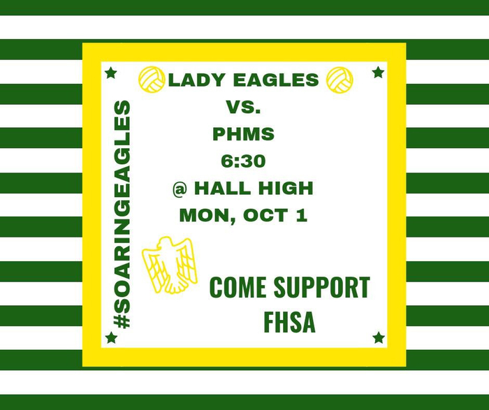 Please come out and support our lady EAGLES volleyball team for the championship game!