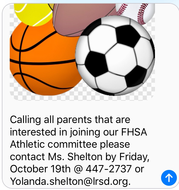 Athletic Committee for parents!