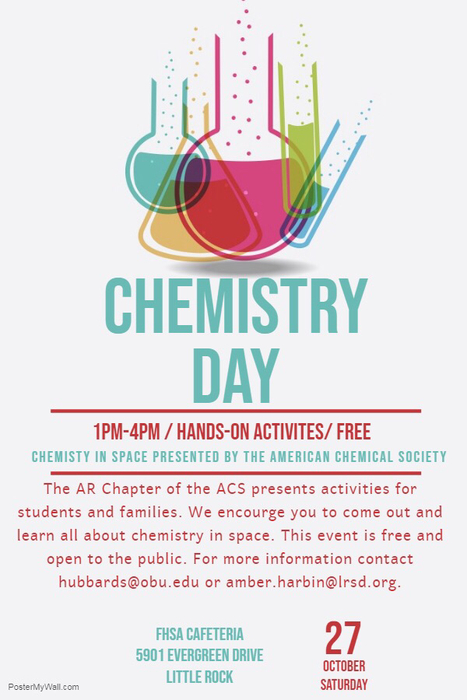 Chemistry Day is next Saturday!