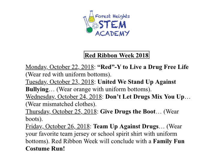 Reminder: Red Ribbon Week