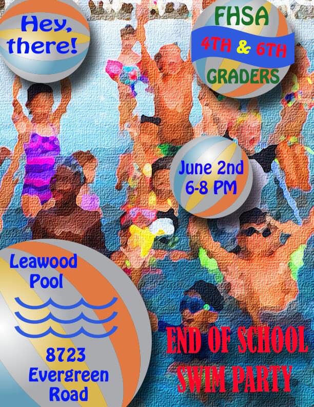 Attention all 6th graders!!!! End of the year swim party!!!! Tomorrow