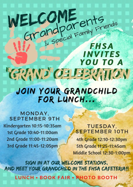 Grandparents Day will be celebrated on Sept. 9 and 10!