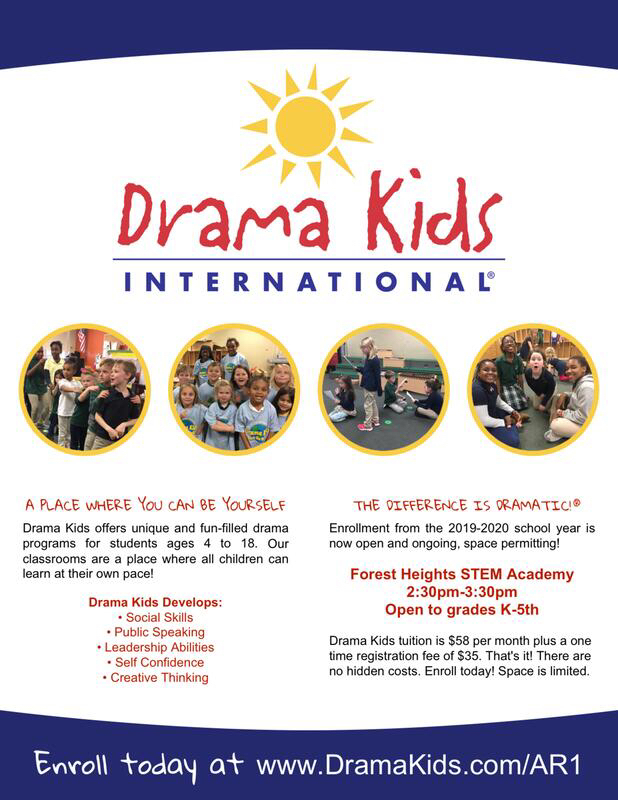 Drama Kids starts on Monday. You can still sign up!