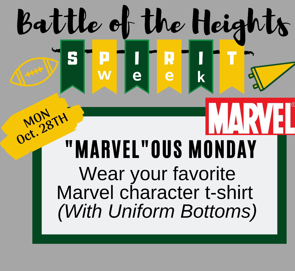"We look forward to seeing how ""Marvel""ous you all look tomorrow!"